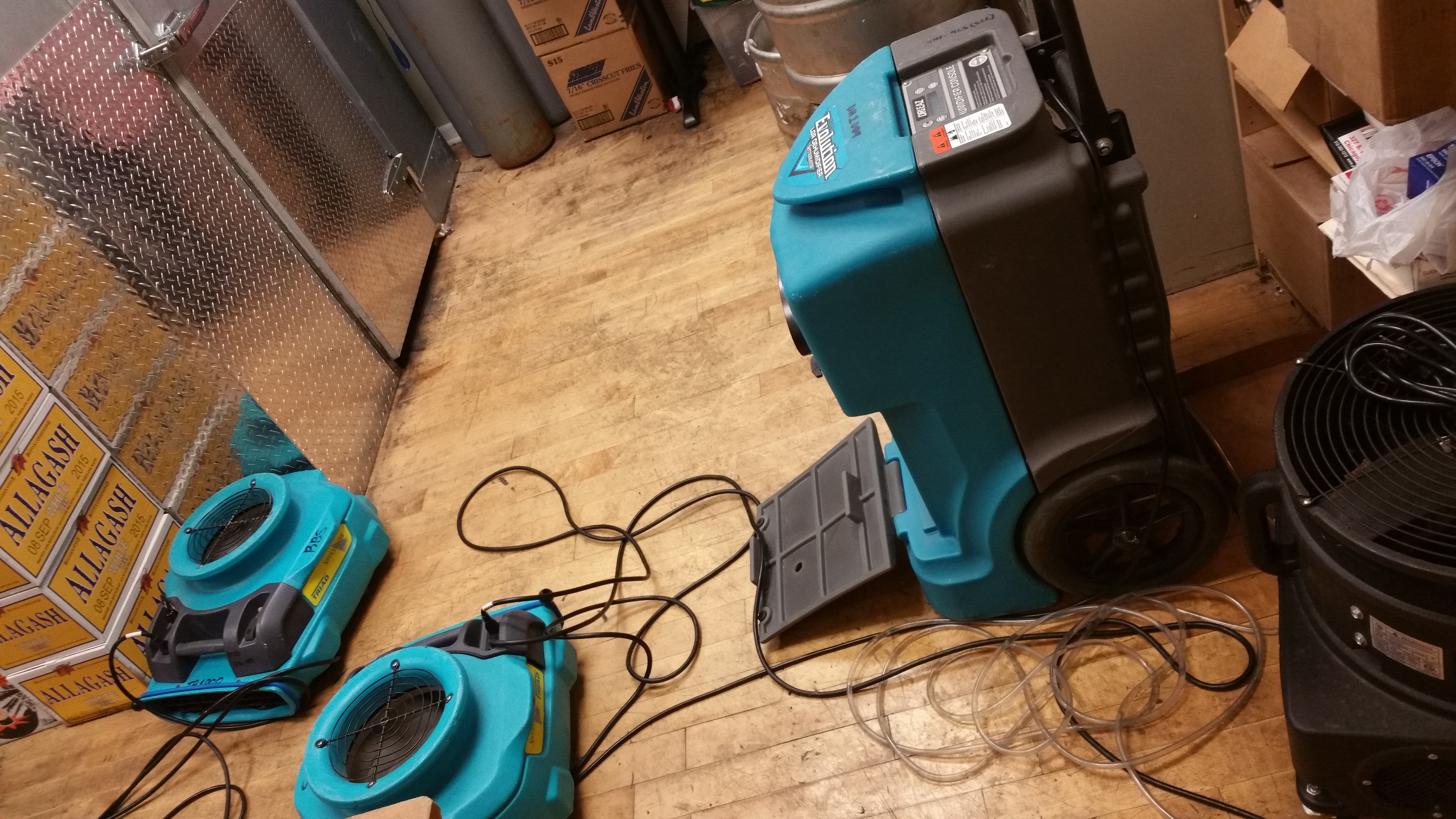 Photo of equipment used to clean