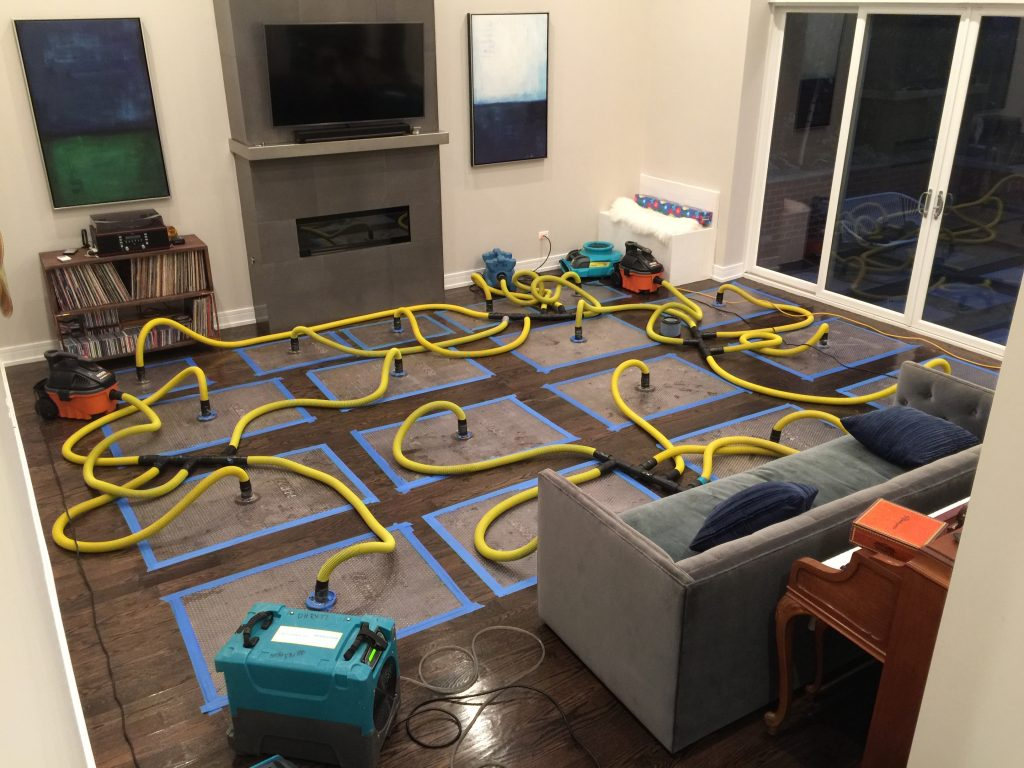 Wood Floor Drying Services - Water Damage Restoration Chicago - ServiceMaster Restoration By Simons