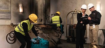 Fire & Smoke Damage Restoration - Commercial & Residential Fire Damage Cleanup - ServiceMaster Restoration By Simons - Chicago IL - Oak Park IL - Northshore